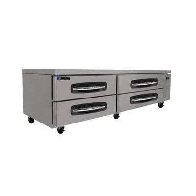 "Master-bilt MBCB84 84"" Chef Base w/ (4) Drawers, 115v"