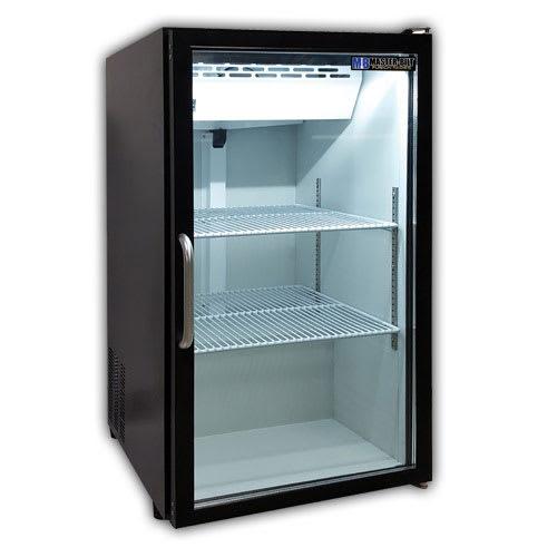 "Master-bilt MBCTM7-B 21"" Countertop Refrigerator w/ Front Access - Swing Door, Black, 115v"