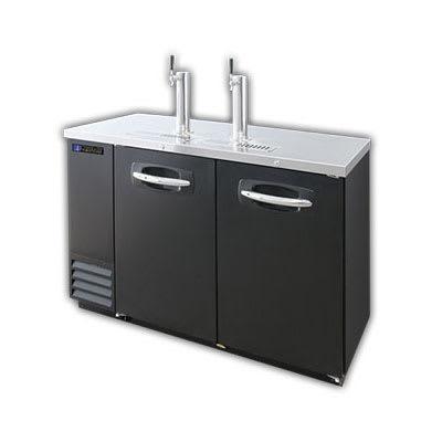 """Master-bilt MBDD59 59"""" Draft Beer System w/ (2) Keg Capacity, (2) Columns, Black, 115v"""