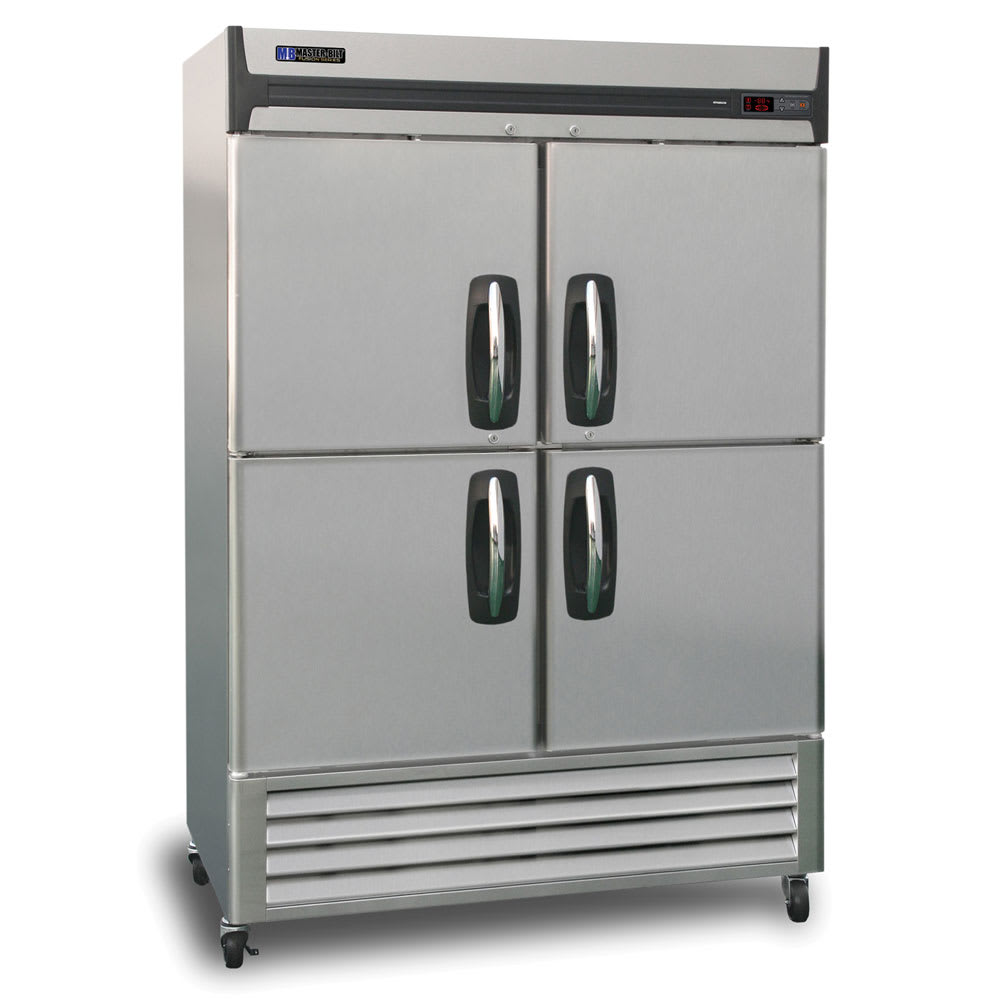 "Master-bilt MBF49-SH 55"" Two Section Reach-In Freezer - (4) Solid Doors, 115v"