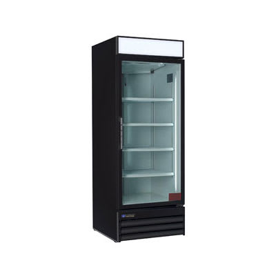 "Master-bilt MBGR26H 29"" One-Section Glass Door Merchandiser Case w/ Swing Doors, Black, 115v"