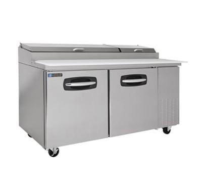 "Master-bilt MBPT67-002 67"" Pizza Prep Table w/ Refrigerated Base, 115v"