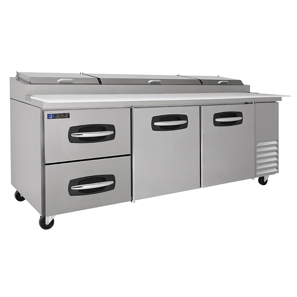 "Master-bilt MBPT93-003 93"" Pizza Prep Table w/ Refrigerated Base, 115v"