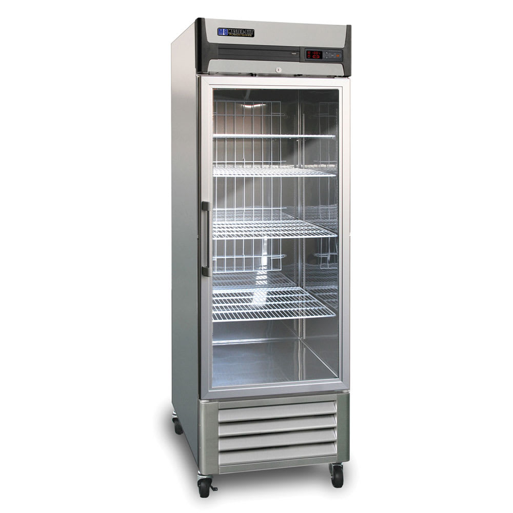 "Master-bilt MBR23-G 27.5"" One-Section Reach-In Refrigerator, (1) Glass Door, 115v"