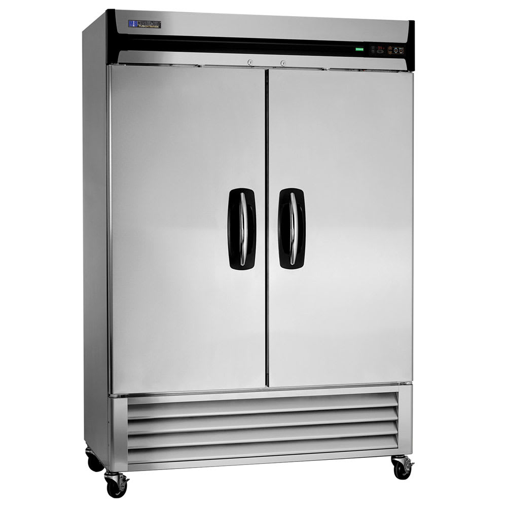 "Master-bilt MBR49-S 55.25"" Two Section Reach-In Refrigerator, (2) Solid Door, 115v"