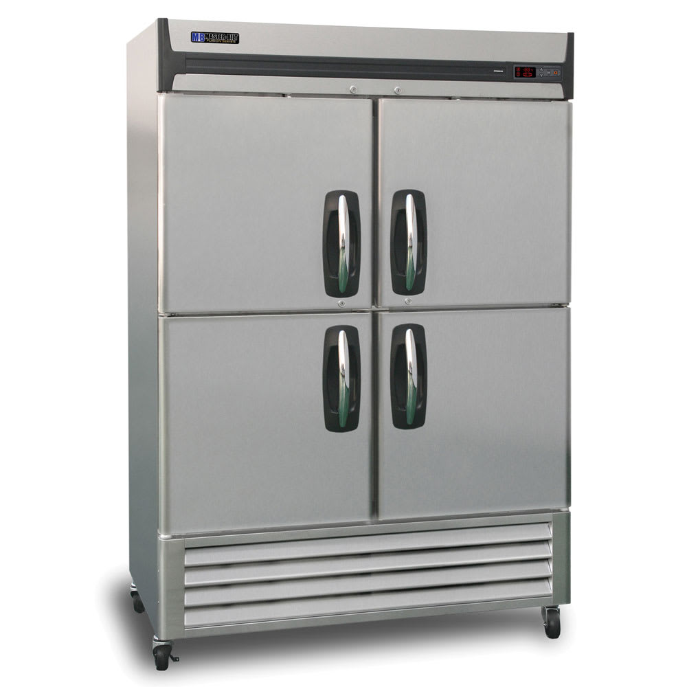 "Master-bilt MBR49-SH 55"" Two-Section Reach-In Refrigerator, (4) Solid Doors, 115v"