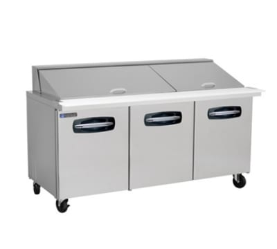 "Master-bilt MBSMP72-30 72"" Sandwich/Salad Prep Table w/ Refrigerated Base, 115v"