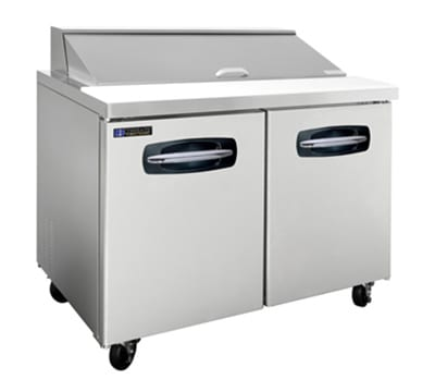 "Master-bilt MBSP48-12 48"" Sandwich/Salad Prep Table w/ Refrigerated Base, 115v"