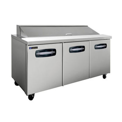 "Master-bilt MBSP72-18 72"" Sandwich Prep Table w/ Refrigerated Base, 115v"