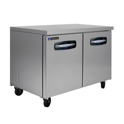 Master-bilt MBUF48 13 cu ft Undercounter Freezer w/ (2) Sections & (2) Doors, 115v