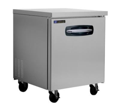 Master-bilt MBUR27 7 cu ft Undercounter Refrigerator w/ (1) Section & (1) Door, 115v