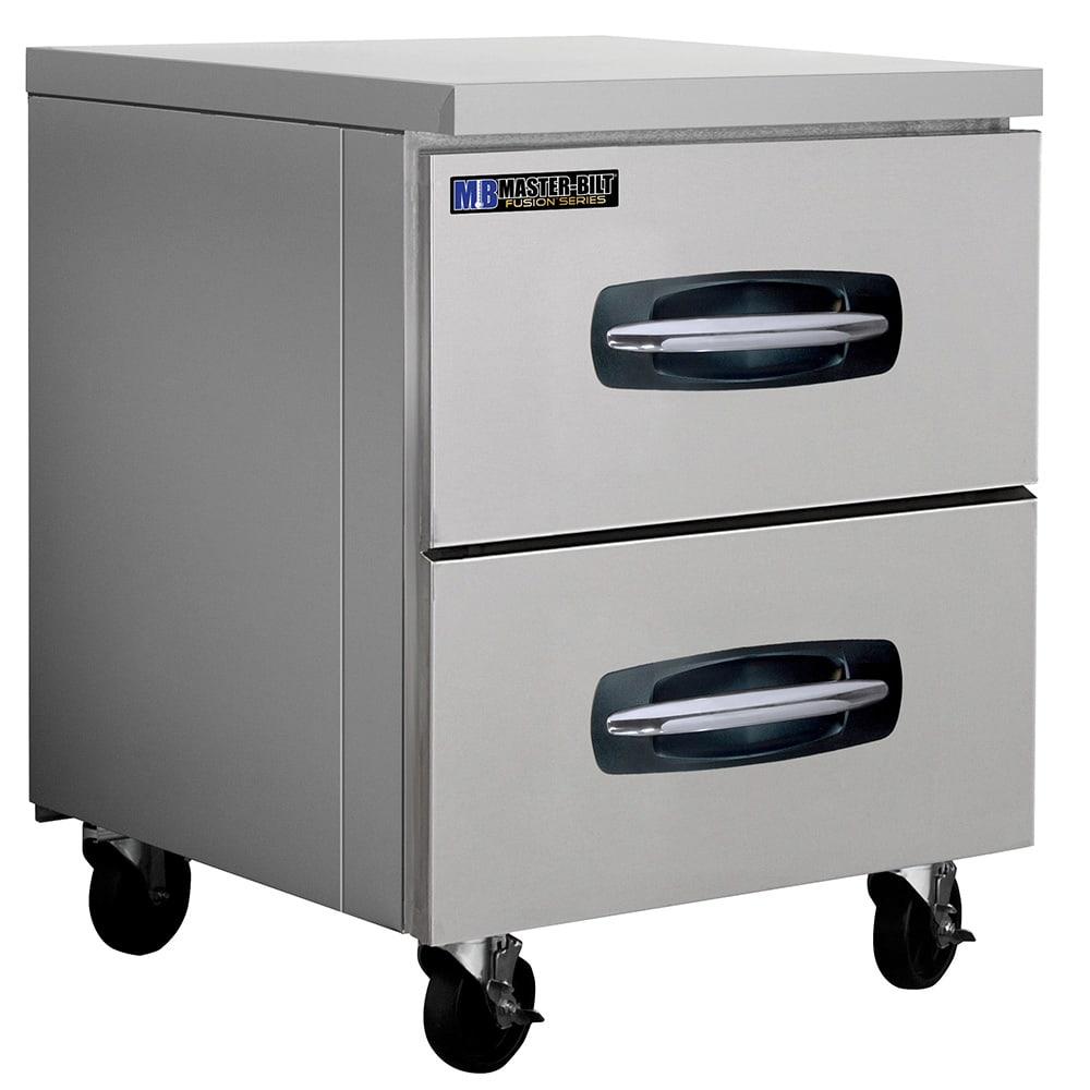 Master-bilt MBUR27-001 7 cu ft Undercounter Refrigerator w/ (1) Section & (2) Drawers, 115v