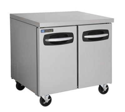 Master-bilt MBUR36 9.4 cu ft Undercounter Refrigerator w/ (2) Sections & (2) Doors, 115v