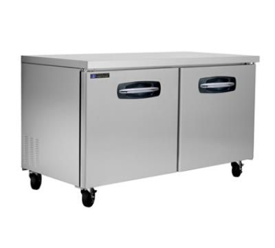 Master-bilt MBUR60 16.5-cu ft Undercounter Refrigerator w/ (2) Sections & (2) Doors, 115v