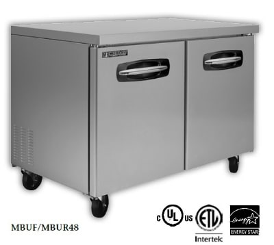 Master-bilt MBUR72-002 20 cu ft Undercounter Refrigerator w/ (3) Sections, (2) Drawers & (2) Doors, 115v
