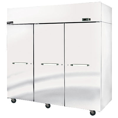 "Master-bilt MNF806SSS/0 82.5"" Three Section Reach-In Freezer, (6) Solid Doors, 115v"