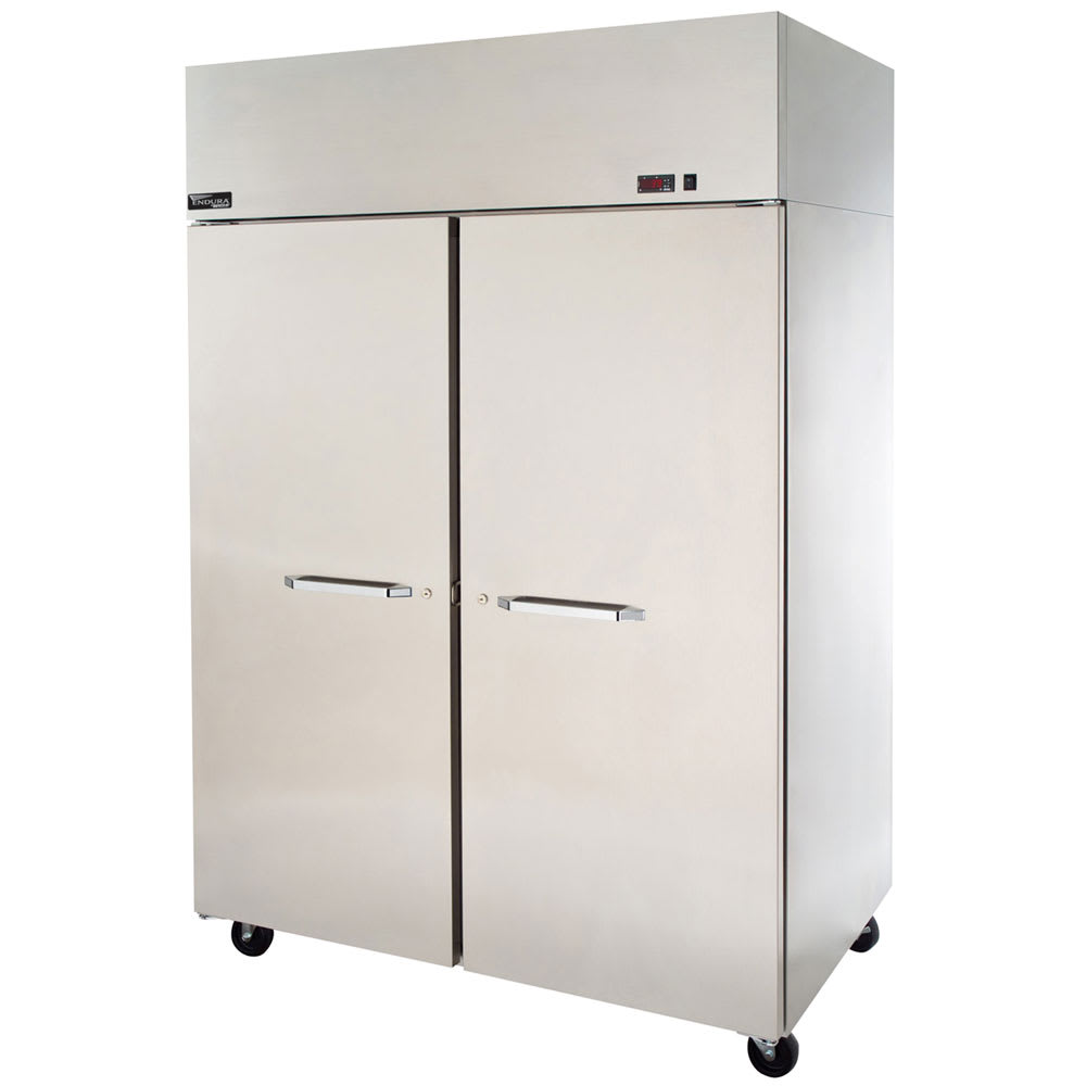 "Master-bilt MNR522SSS/0X 55"" Two Section Reach-In Refrigerator, (2) Solid Door, 115v"