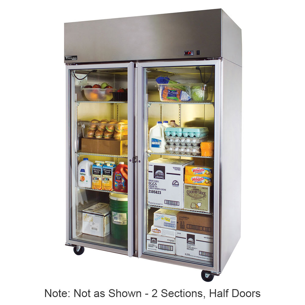 "Master-bilt MNR524SSS/0X 55"" Two Section Reach-In Refrigerator, (4) Solid Doors, 115v"
