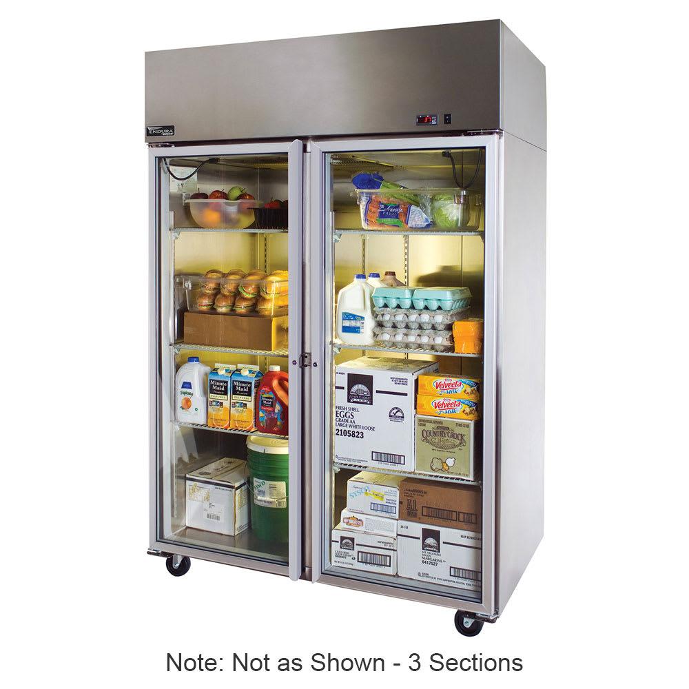 """Master-bilt MNR803SSG/0X 82.5"""" Three Section Reach-In Refrigerator, (3) Glass Doors, 115v"""