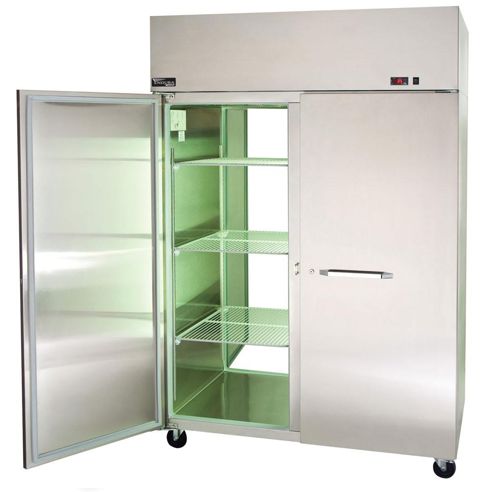 """Master-bilt MPR524SSS/0X 55"""" Two Section Pass-Thru Refrigerator, (2) Solid Door, 115v"""
