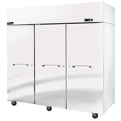 """Master-bilt MPR806SSS/0X 82.5"""" Three Section Pass-Thru Refrigerator, (3) Solid Door, 115v"""