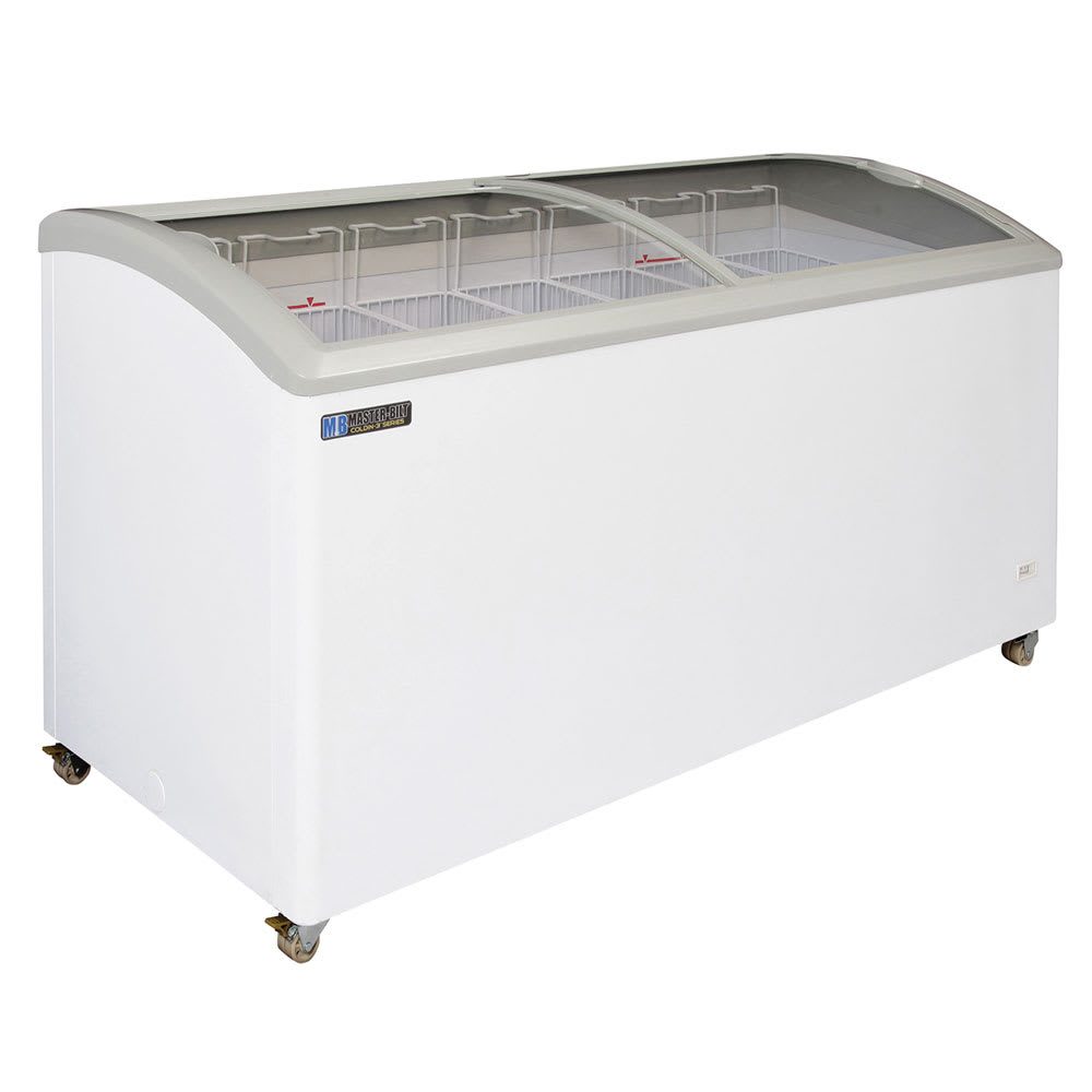 "Master-bilt MSC-66AN 66.5"" Mobile Ice Cream Freezer w/ 6 Baskets, Mobile, White, 115v"