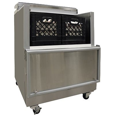 Master-bilt OMC-082SS-A Milk Cooler w/ Top & Side Access - (864) Half Pint Carton Capacity, 115v