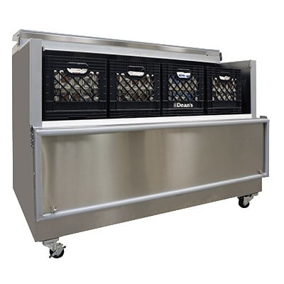 Master-bilt OMC-162SS-A Milk Cooler w/ Top & Side Access - (1800) Half Pint Carton Capacity, 115v