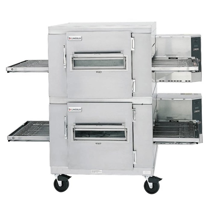 "Lincoln 1400-2G 78"" Gas Double Conveyor Oven, NG"