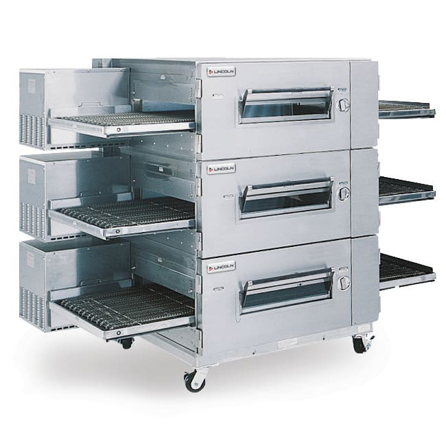 "Lincoln 1600-3G 80"" Impinger Low Profile Triple Conveyor Oven, NG"