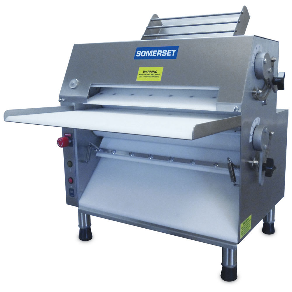 Somerset CDR-2000 Dough Roller w/ 600 Piece/Hr Capacity, Stainless, 115v