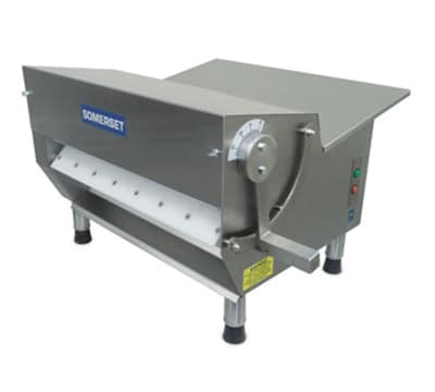 Somerset CDR500 Dough Sheeter w/ 20-in Rollers & Fixed Speed, Front or Side Operation, Stainless