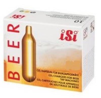 iSi 021612PK CO2 Beer Chargers, (12) 10 Packs Per Case