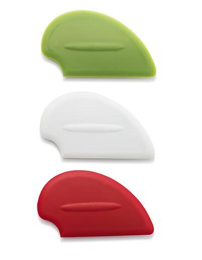 iSi B100 65 Flexible Silicone Scraper Spatula Starter Set w/ Red, White & Green