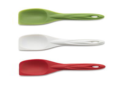 iSi B103 65 Flexible Silicone Spoon Spatula Set w/ Assorted Colors