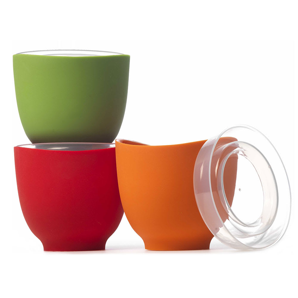 iSi B250 65 Prep Bowl Set w/ (3) 2 cup Bowls & Lids, No Drip Lip, Assorted Colors