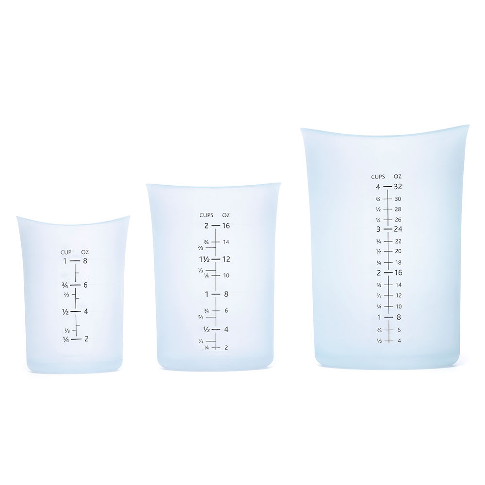iSi B253 00 Measuring Cup Set w/ 4-Cup, 2-Cup & 1-Cup Capacity, Curved Lip