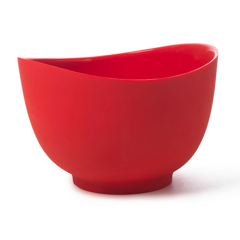 iSi B262 01 2 qt Flexible Mixing Bowl w/ Secure Grip Texture & Form Anywhere Spout, Red