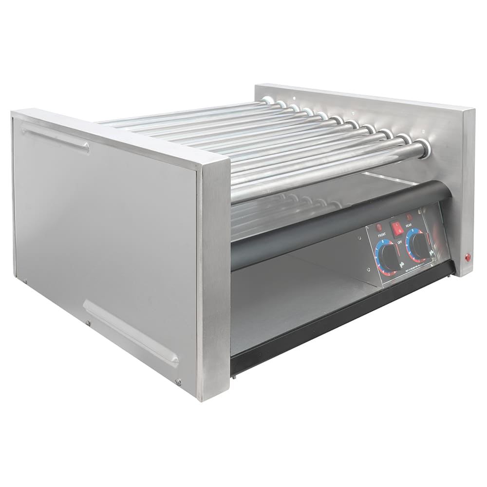 Star 30SCBBC 30 Hot Dog Roller Grill w/Bun Storage - Slanted Top, 120v