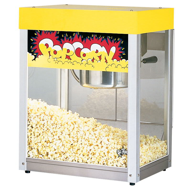 Star 39-A Popcorn Popper, 6 oz Kettle, (135) 1oz Servings, Yellow