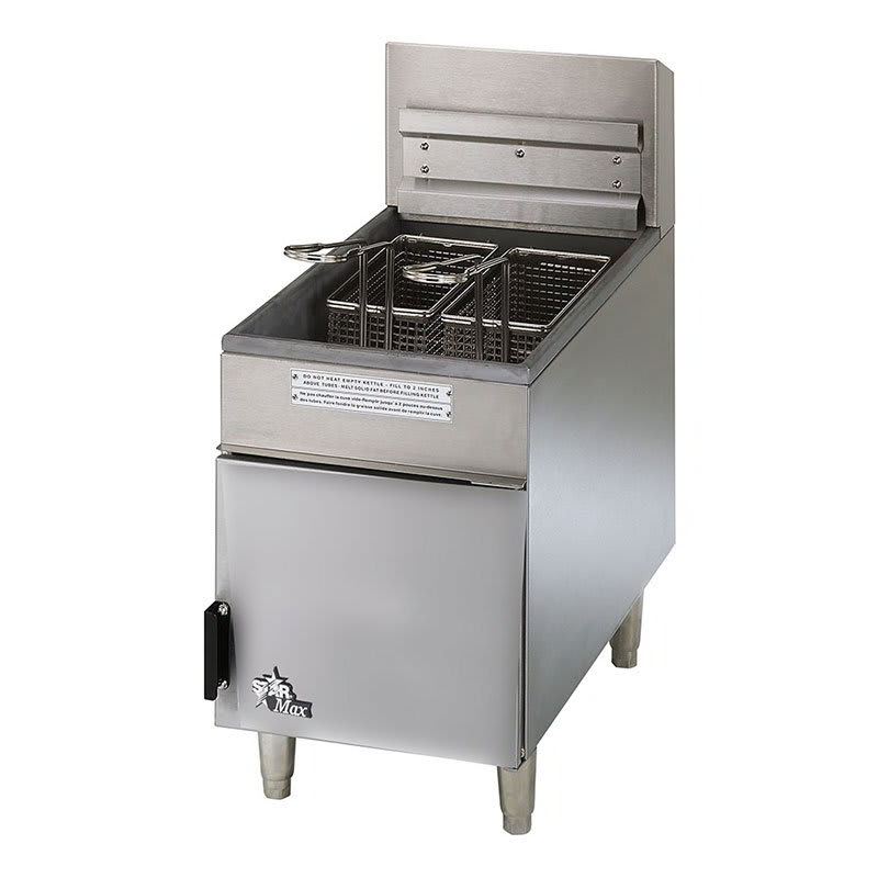 Star 404F Countertop Gas Fryer - (1) 18-lb Vat, LP