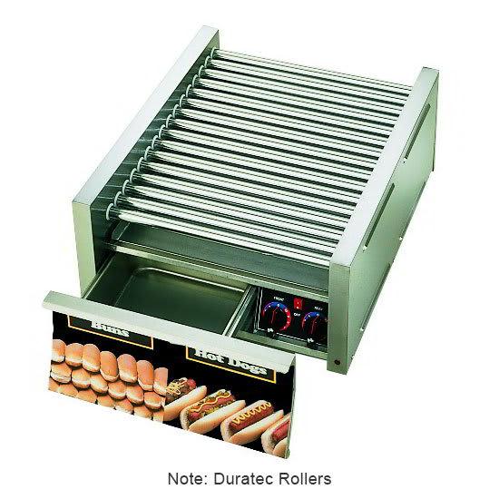 Star 45SCBD CSA-120 45 Hot Dog Roller Grill w/Bun Storage - Slanted Top, 120v, CSA