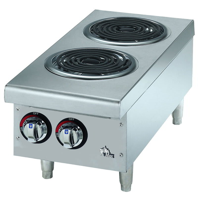 Star 502CF Countertop Hotplate - 2-Burner, Infinite Heat Control