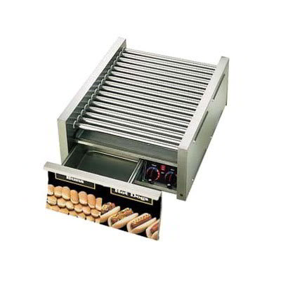 Star 50SCBD CSA-120 50 Hot Dog Roller Grill w/Bun Storage - Slanted Top, 120v, CSA