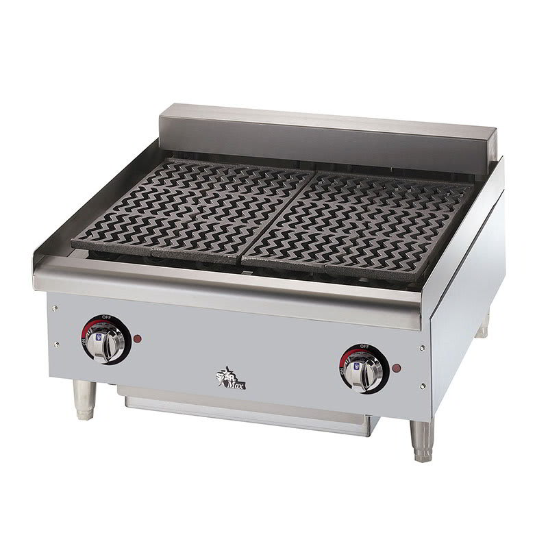 "Star 5124CF 24"" Charbroiler w/ Removable Cast Iron Grids & Water Pan, 208v/3ph"