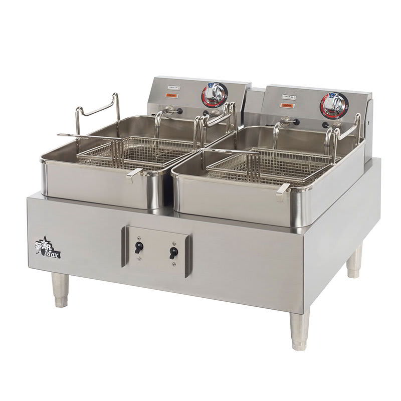 Star 530TEF Countertop Electric Fryer - (2) 15-lb Vat, 208v/1ph