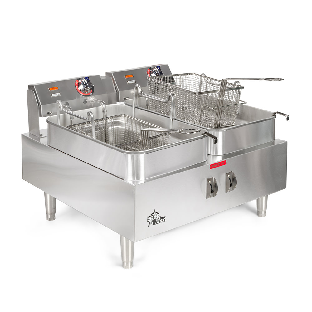 Star 530TF Countertop Electric Fryer - (2) 15 lb Vat, 208v/1ph