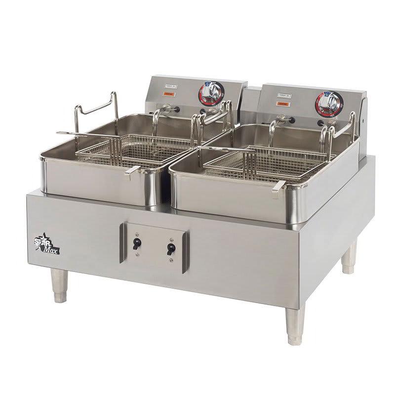 Star 530TF CSA Countertop Electric Fryer - (2) 15-lb Vat, 208v/1ph