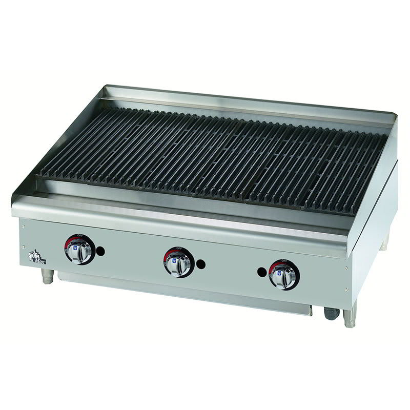 "Star 6036CBF 36"" Gas Charbroiler - Cast Iron Grate, Adjustable Control Valve"