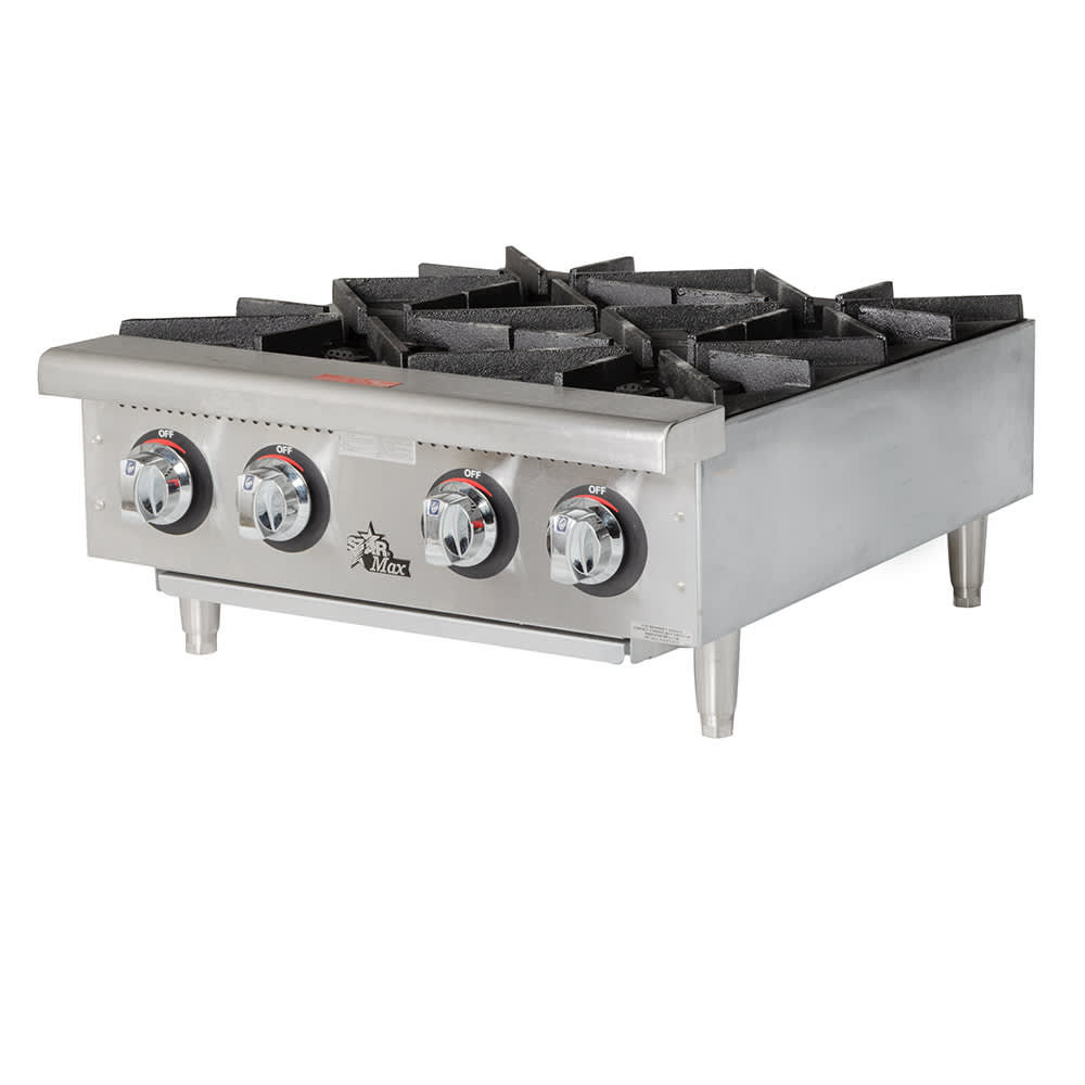 "Star 604HF 24"" Gas Hotplate w/ (4) Burners & Manual Controls"